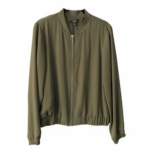 Green Light Weight Bomber Jacket Small